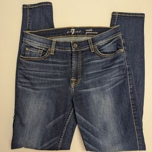 7 For All Mankind Ankle Gwenevere Jeans 28